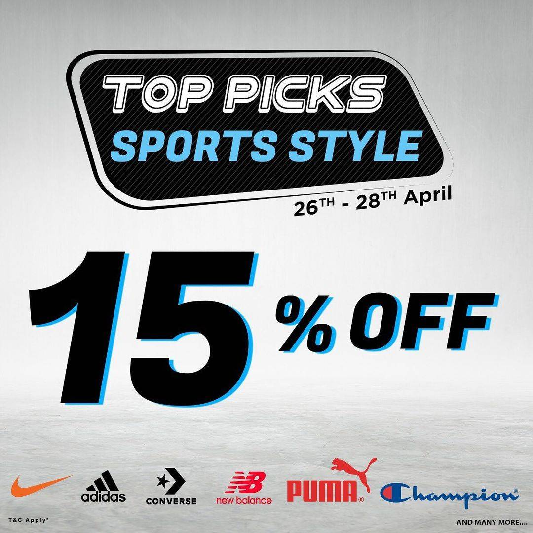 Diskon Planet Sports Discount 15% Off On Selected Brands