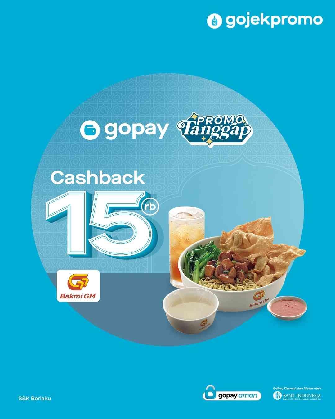 Diskon Bakmi GM Cashback 15% Dengan Gopay