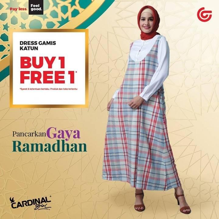 Diskon Matahari Buy 1 Get 1 Free Dress Gamis Katun