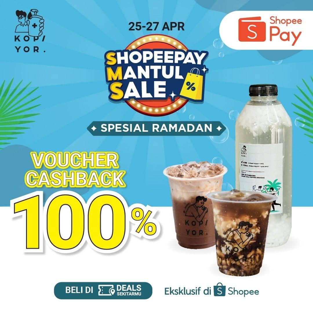 Diskon Kopi Yor Voucher Cashback 100% Dengan Shopeepay