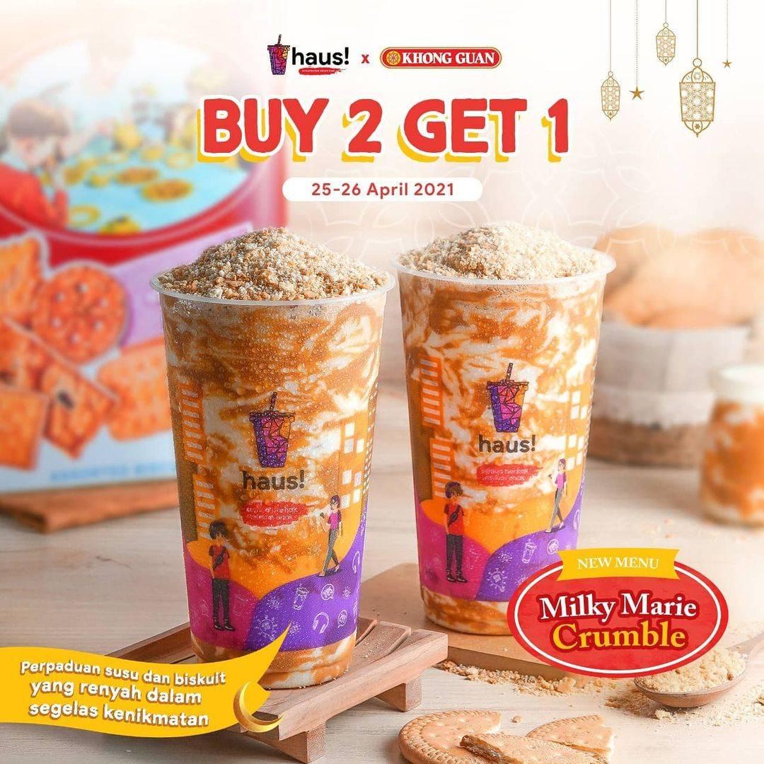 Diskon Haus! Indonesia Buy 2 Get 1 Free Millky Marie Crumble