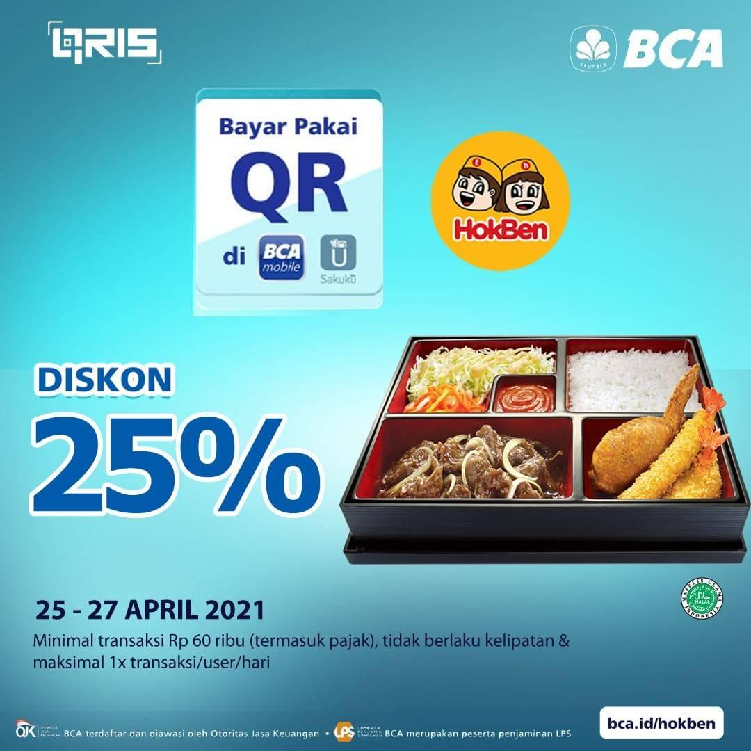 Diskon Hokben Diskon 25% With QR BCA