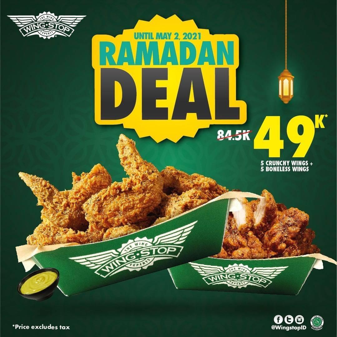 Diskon Wingstop Promo Ramadan Deal 10 Wings Hanya Rp. 49.000