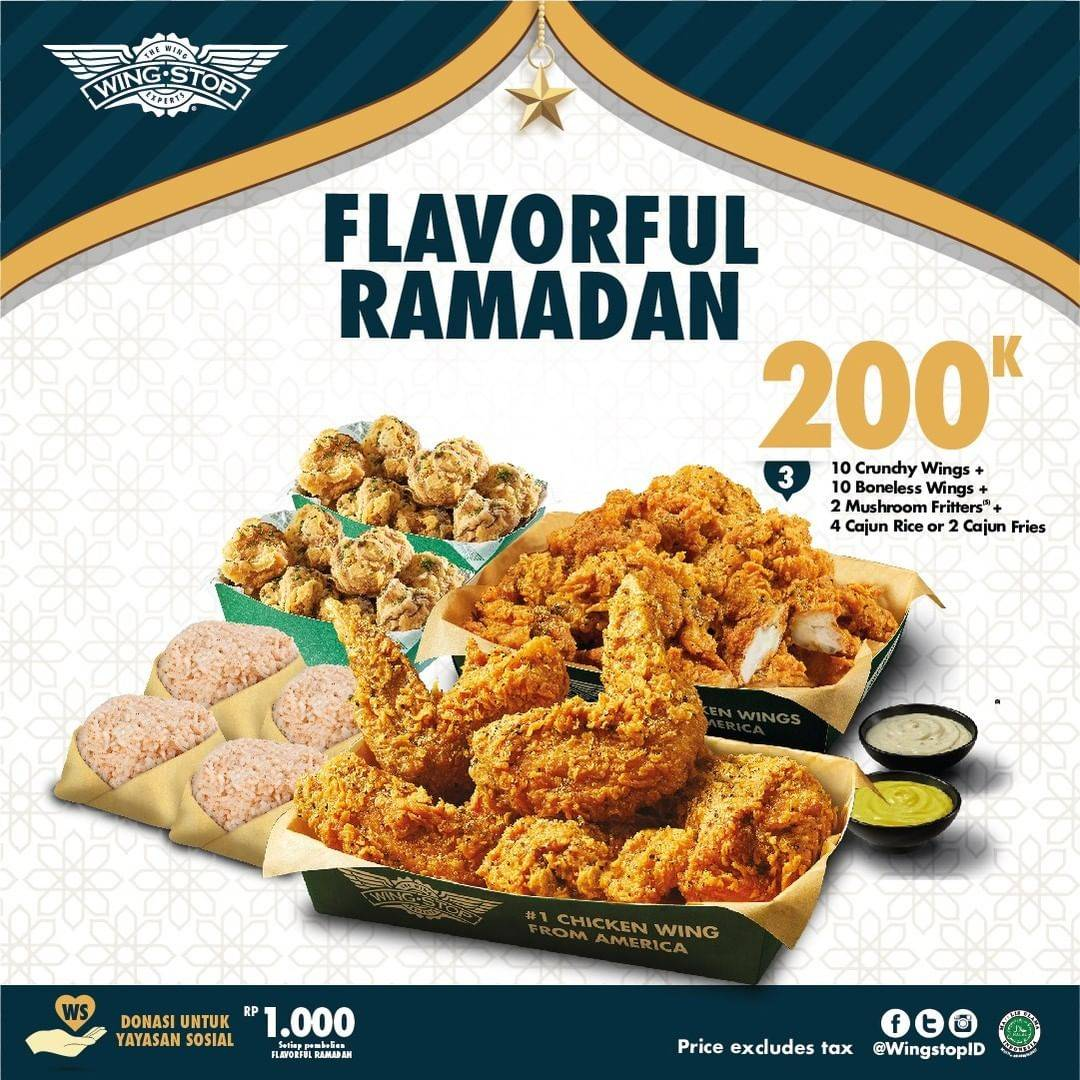 Diskon Wingstop Promo Flavorful Ramadan Only For Rp. 200.000