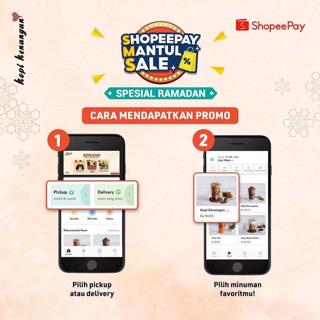 Promo diskon Kopi Kenangan Cashback Langsung 100% Dengan Shopeepay