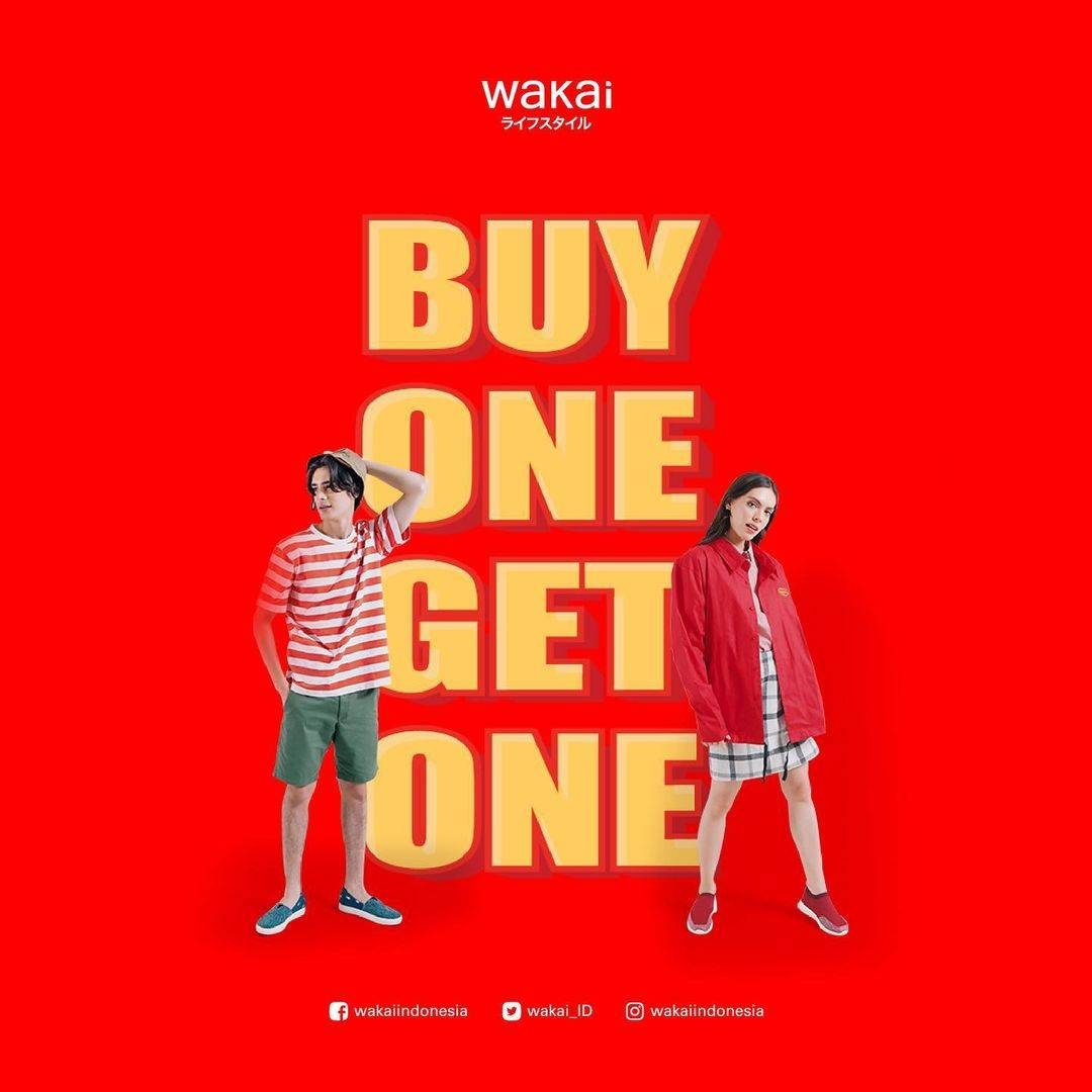 Diskon Wakai Buy 1 Get 1 Free + Diskon 5%