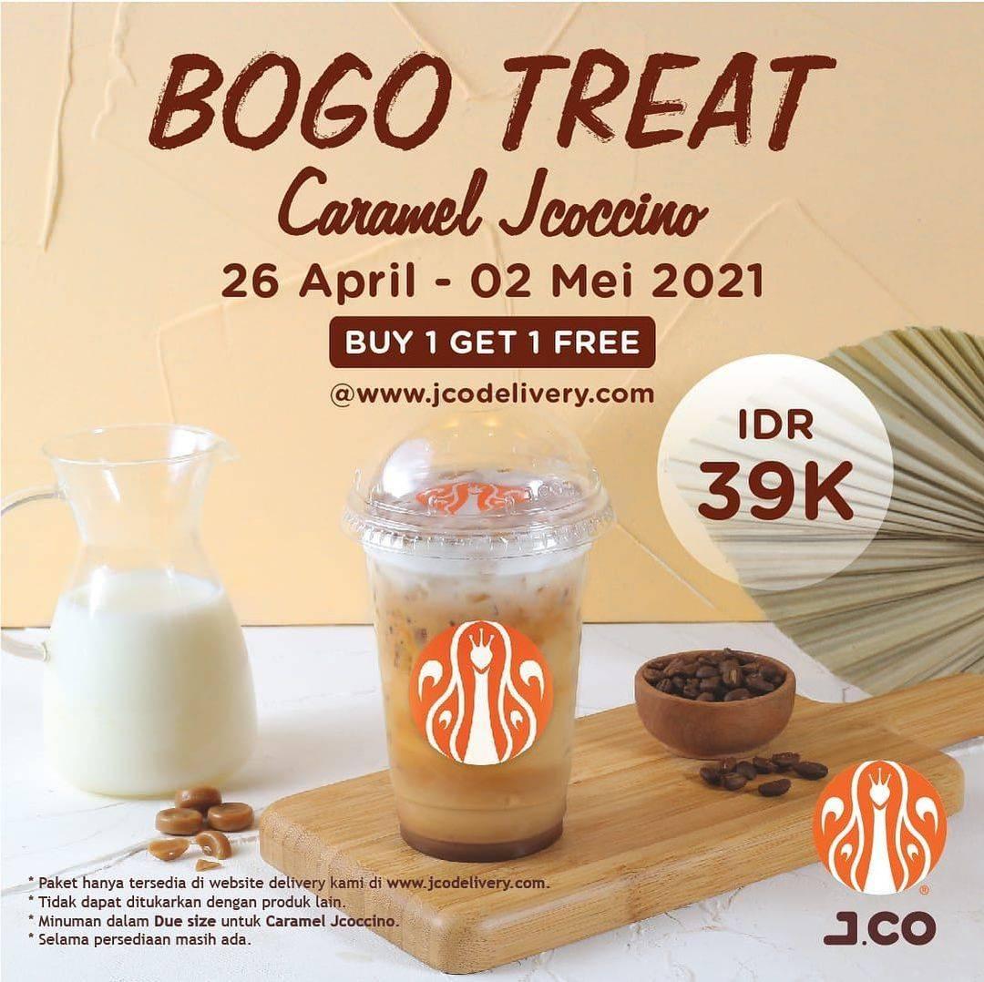 Diskon JCO Buy 1 Get 1 Free Caramel Jcoccino