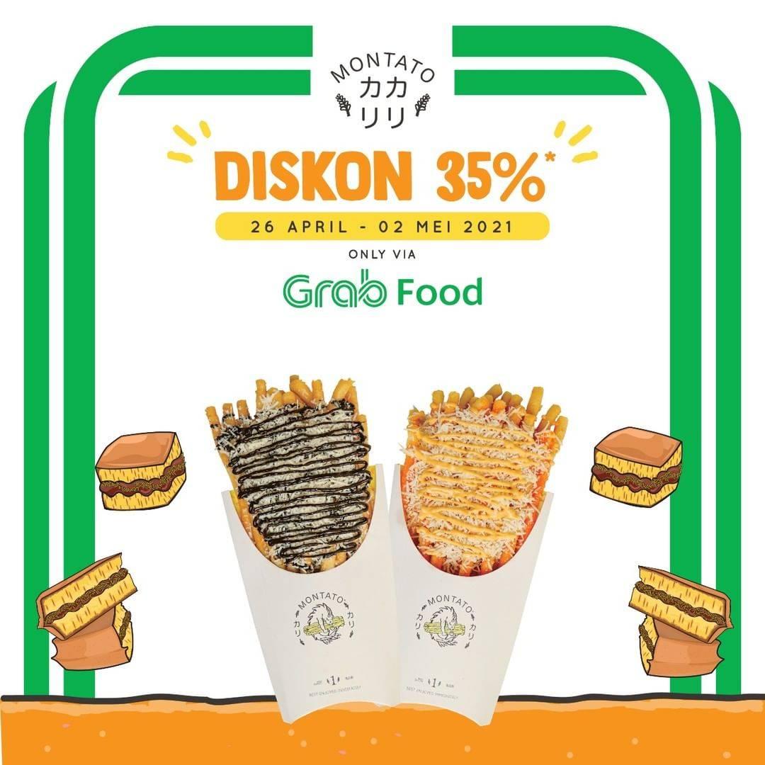 Diskon Montato Diskon 35% Dengan Grabfood