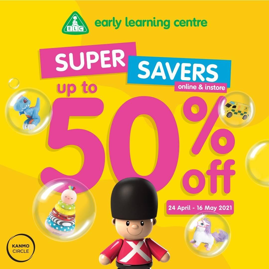 Diskon ELC Super Savers Discount Up To 50% Offf