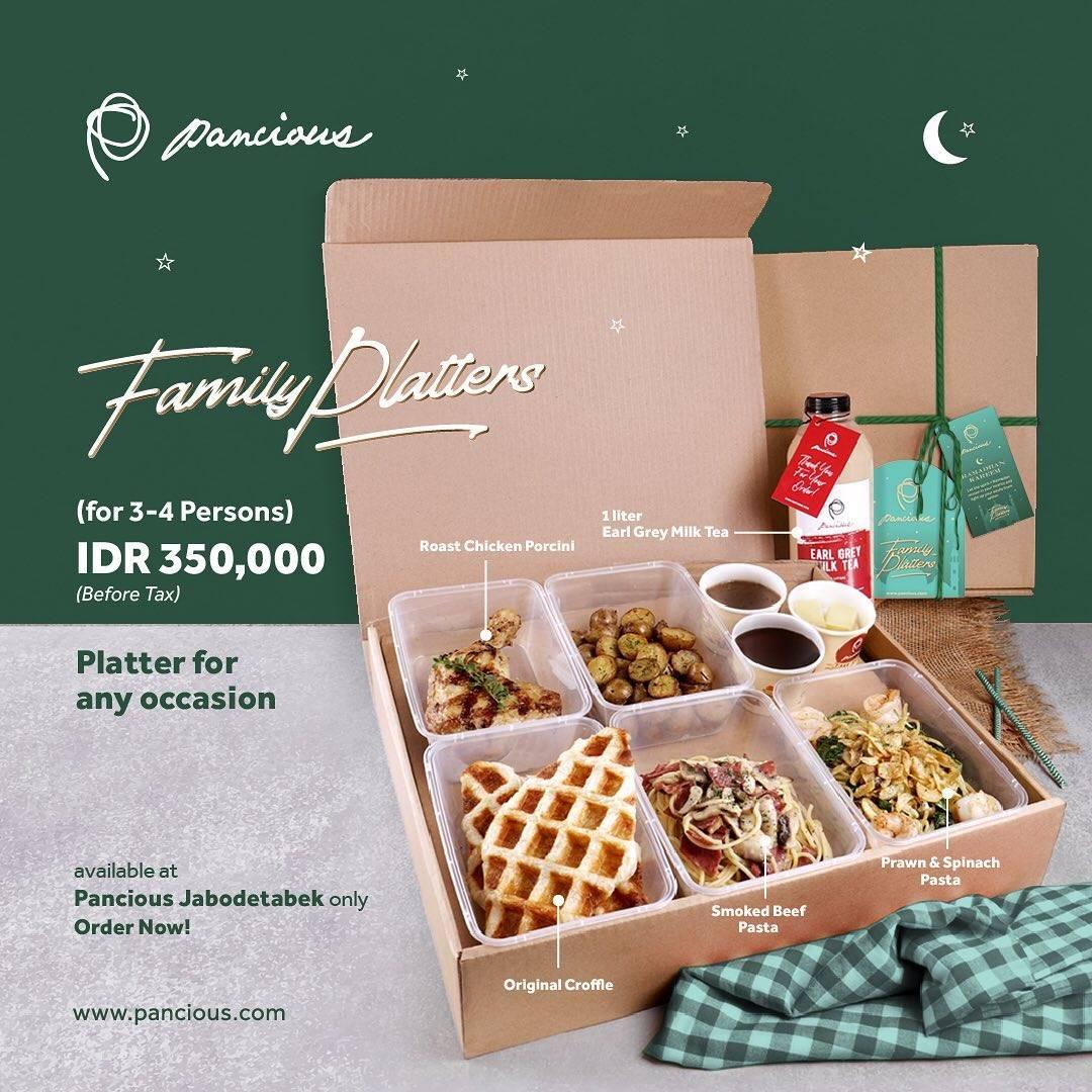Diskon Pancious Promo Family Platters IDR. 350.000
