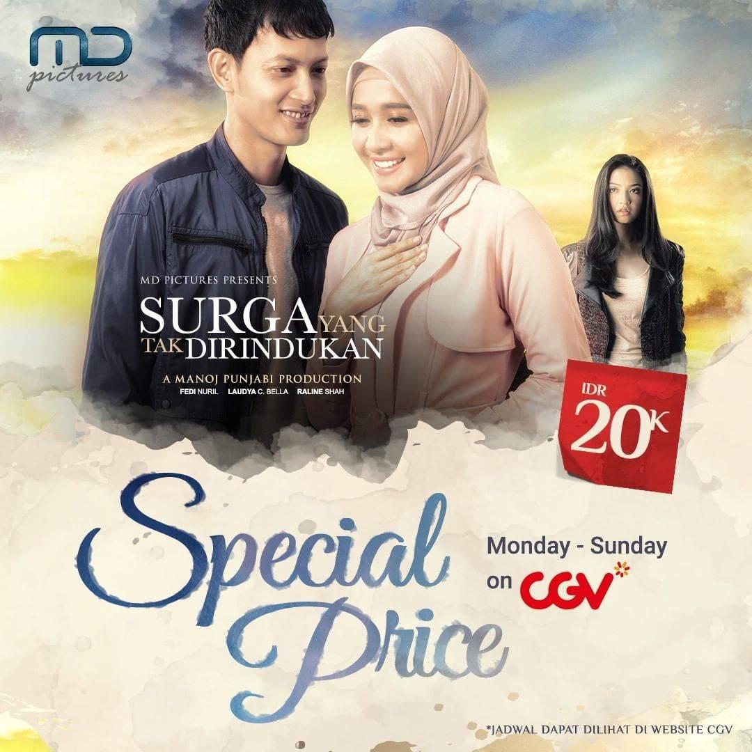 Diskon CGV Promo Tiket Nonton Film Surga Yang Tak Dirindukan Hanya Rp. 20.000