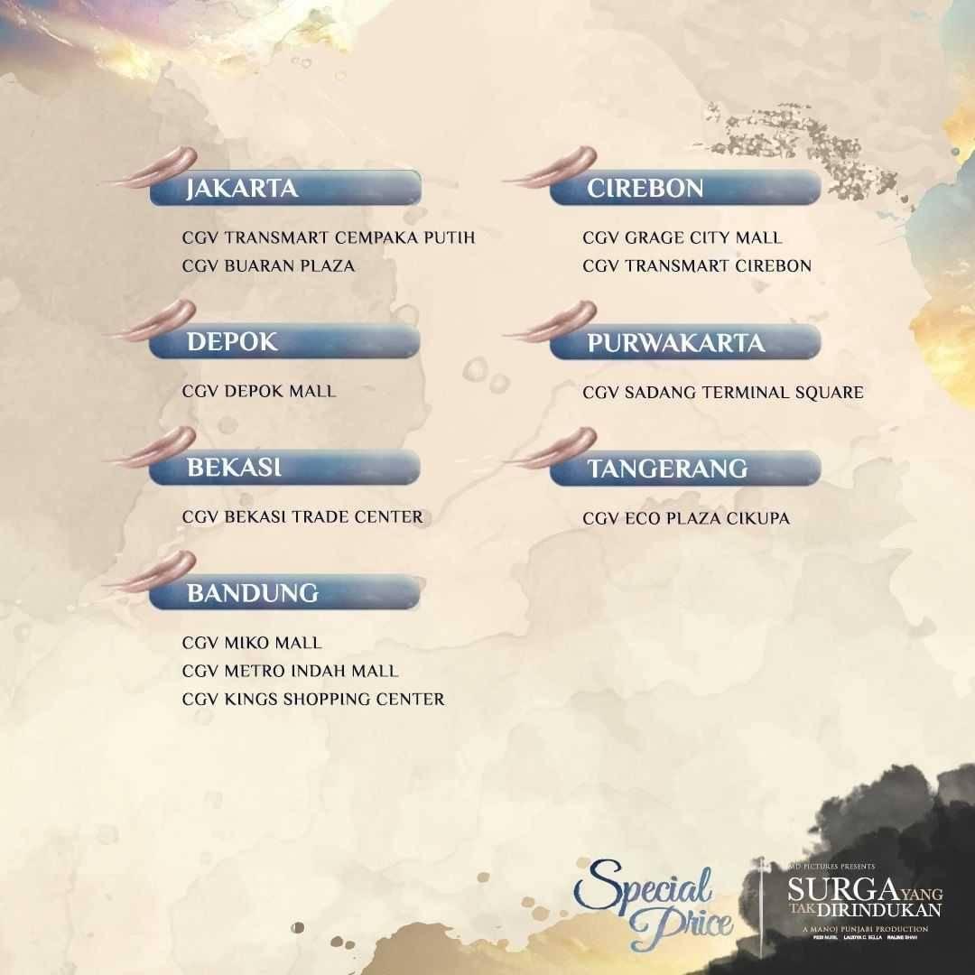Promo diskon CGV Promo Tiket Nonton Film Surga Yang Tak Dirindukan Hanya Rp. 20.000