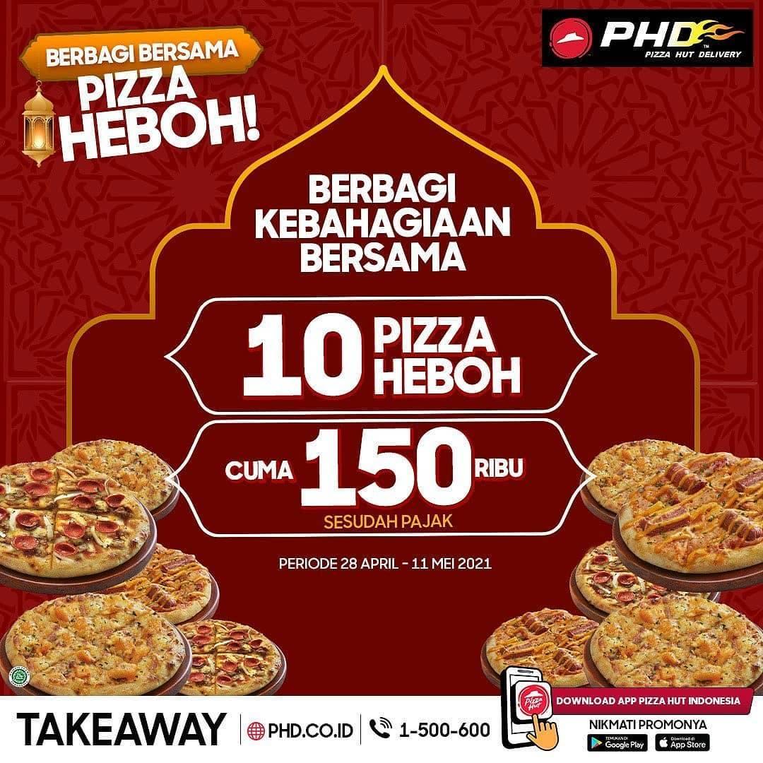 Diskon PHD Promo 10 Pizza Heboh Hanya Rp. 150.000