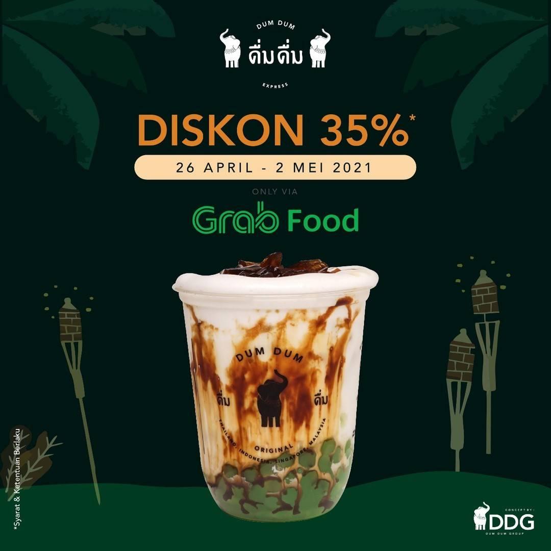 Diskon Dum Dum Diskon 35% Dengan GrabFood