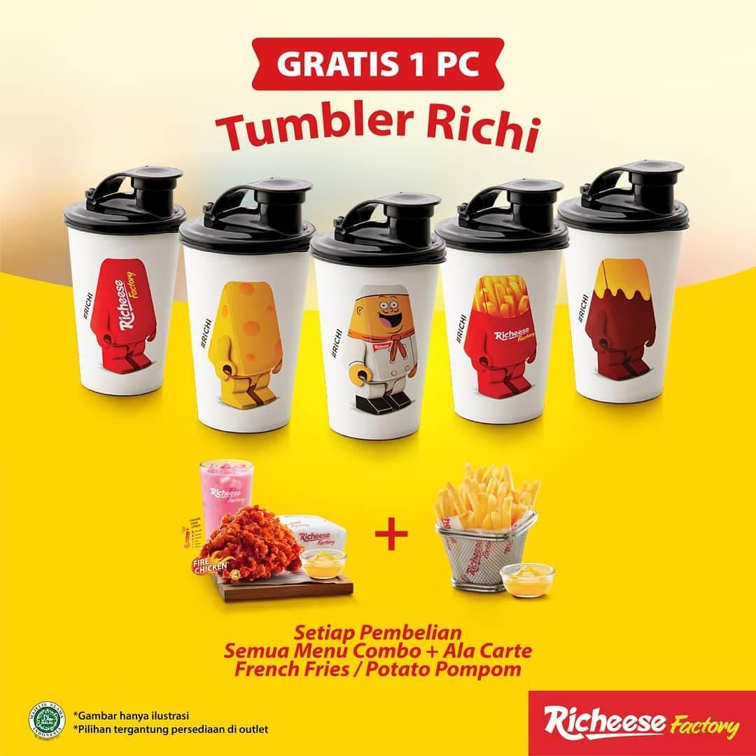 Diskon Richeese Factory Gratis 1 Pc Tumbler Richi