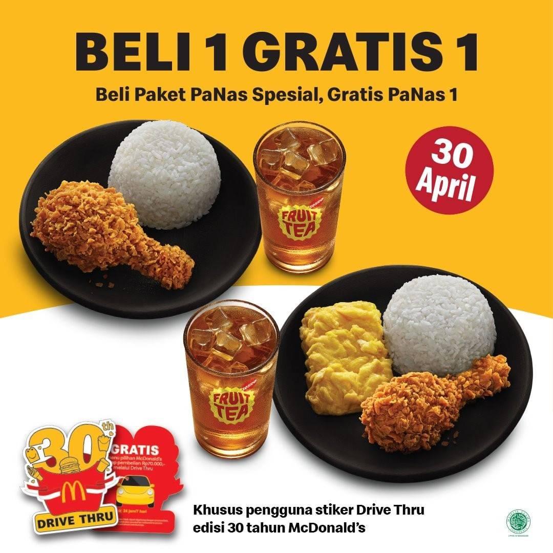 Diskon McDonalds Buy 1 Get 1 Free Paket PaNas