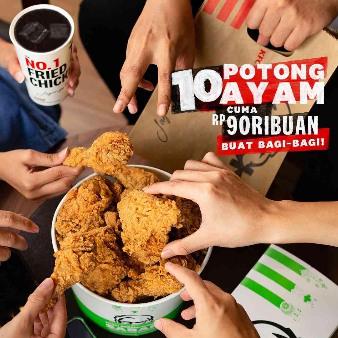 Diskon KFC Promo 10 Potong Ayam Hanya Rp. 90Ribuan