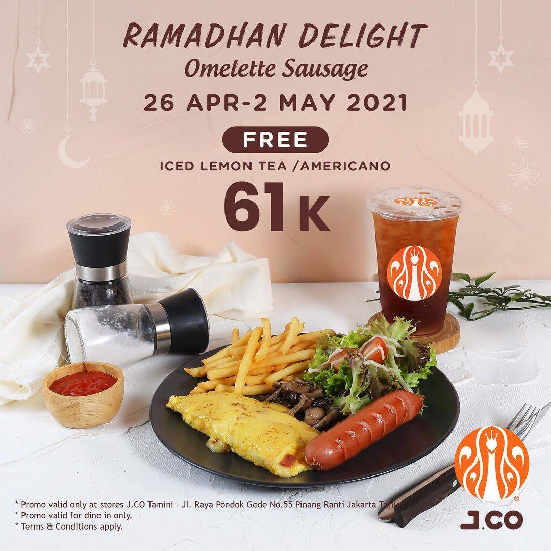 Diskon JCO Promo Ramadan Delight Omelette Sausage Hanya Rp. 61.000