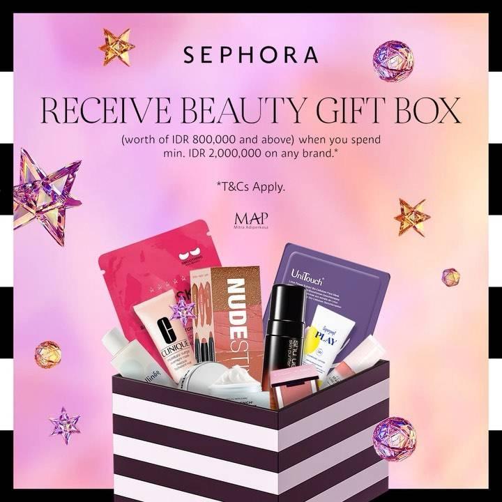 Diskon Sephora Get Free Beauty Gift Box
