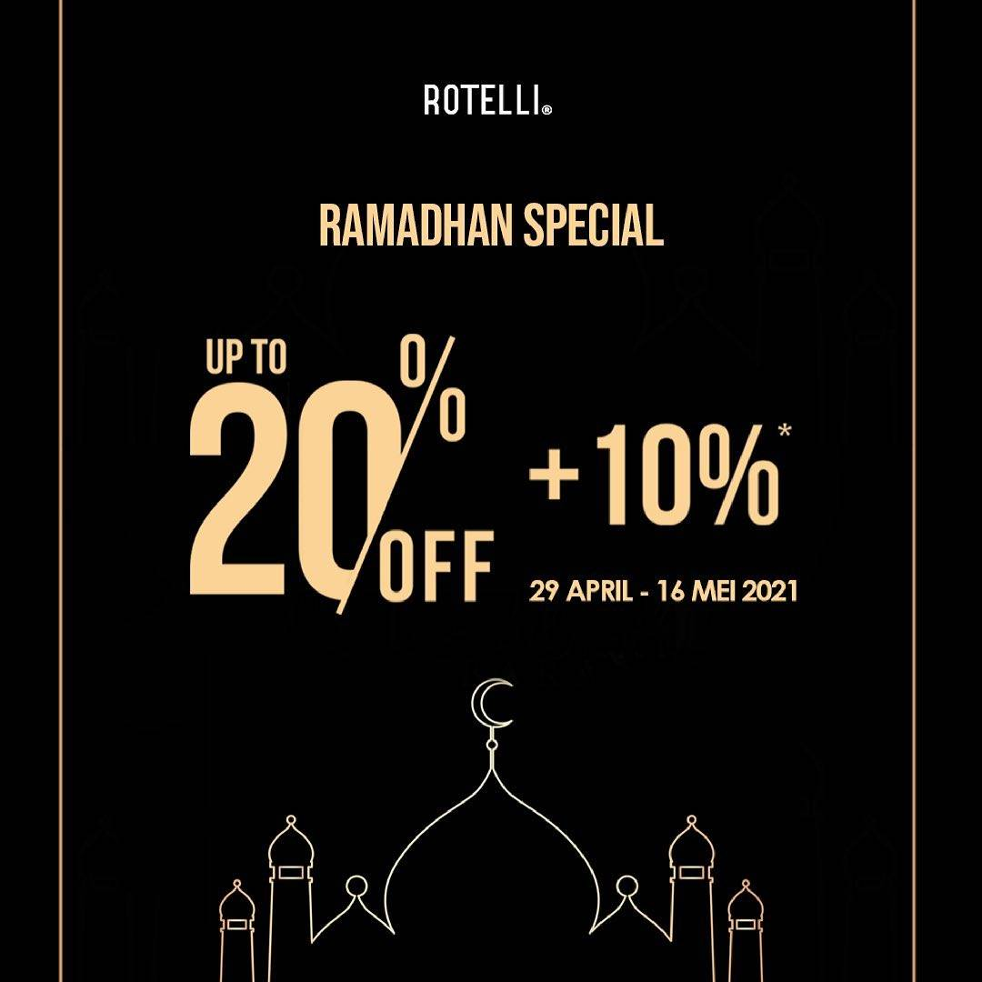 Diskon Rotelli Ramadhan Special Discount Up To 20% Off + 10% Off