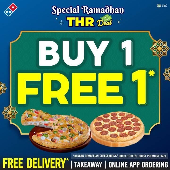 Diskon Domino's Pizza Buy 1 Get 1 Free