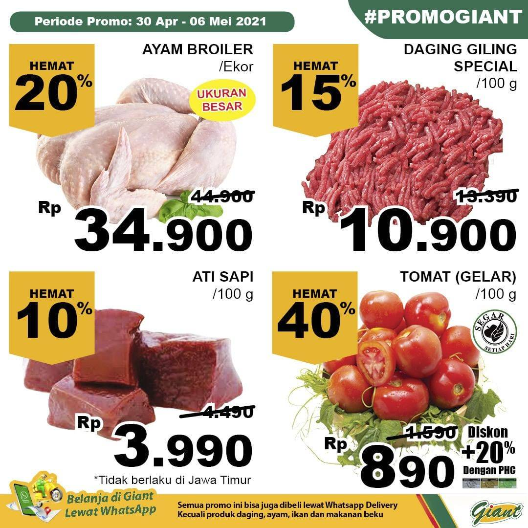 Diskon Katalog Promo Giant Hemat JSM Terbaru Periode 30 April - 6 Mei 2021