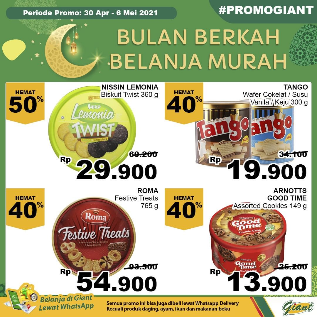 Promo diskon Katalog Promo Giant Hemat JSM Terbaru Periode 30 April - 6 Mei 2021
