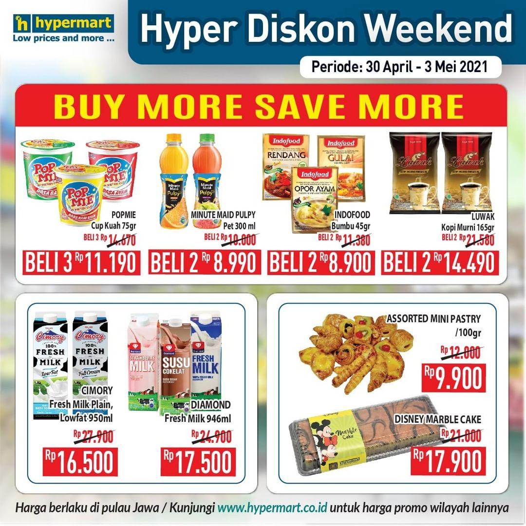 Promo diskon Katalog Promo Hypermart JSM Weekend Periode 30 April - 3 Mei 2021