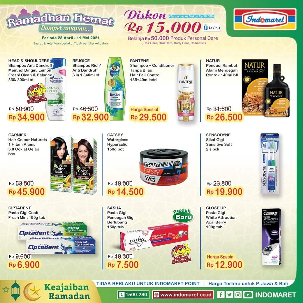 Promo diskon Katalog Promo Indomaret Super Hemat Terlengkap Periode 28 April - 4 Mei 2021