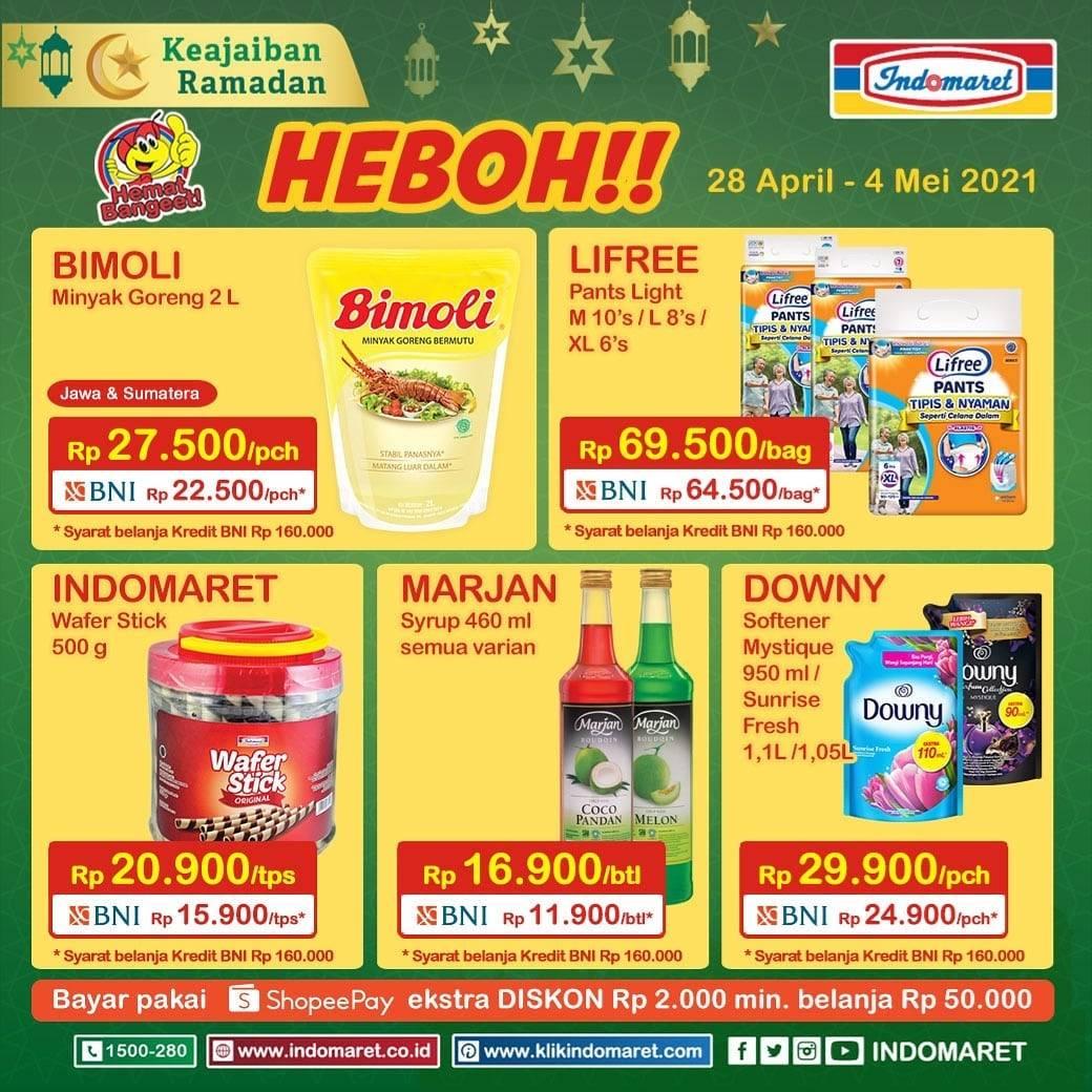 Diskon Katalog Promo Indomaret Promo Heboh Periode 28 April - 4 Mei 2021