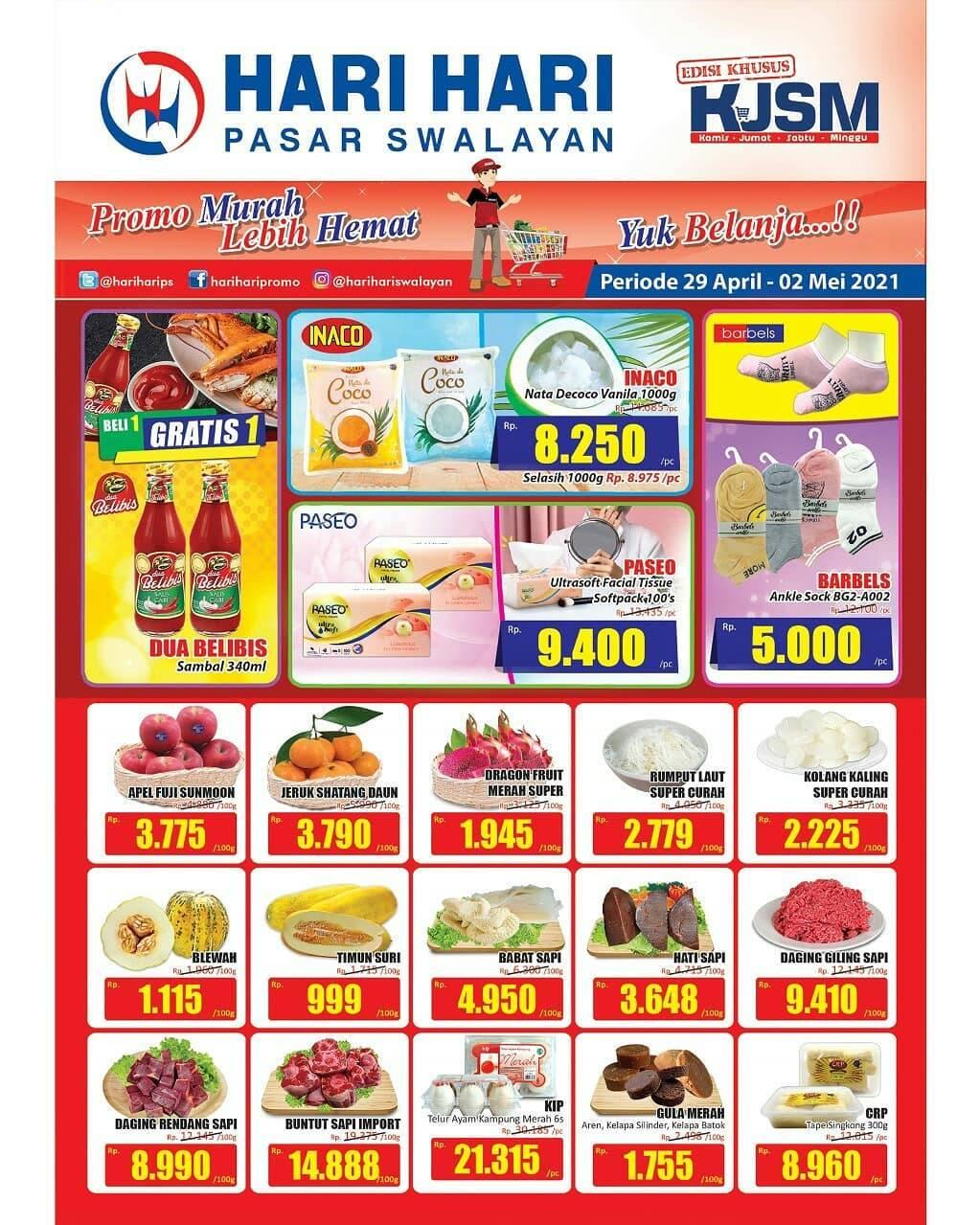 Diskon Katalog Promo Hari Hari Swalayan KJSM Periode 29 April - 2 Mei 2021