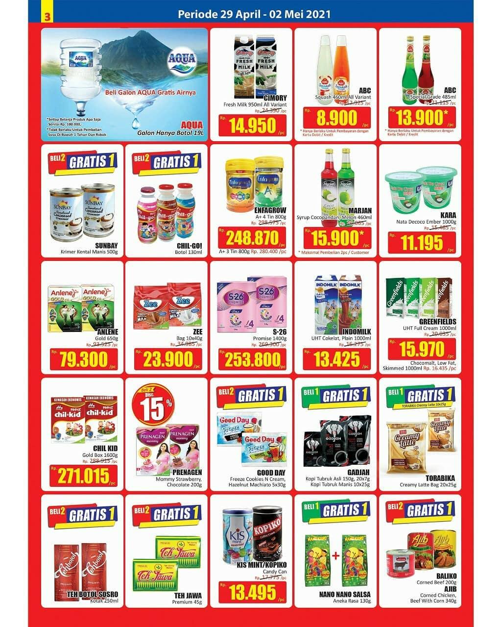 Promo diskon Katalog Promo Hari Hari Swalayan KJSM Periode 29 April - 2 Mei 2021
