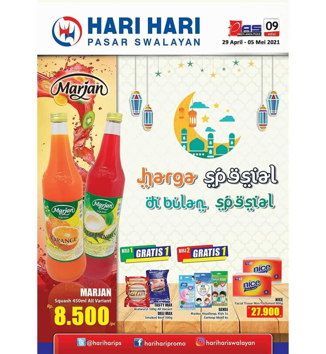 Diskon Katalog Promo Hari Hari Swalayan Promo PAS Periode 29 April - 5 Mei 2021