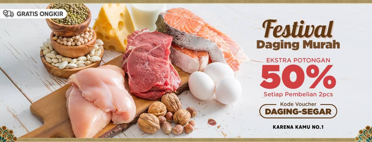 Diskon Blibli.com Promo Festival Daging Murah Dapatkan Potongan 50% Setiap Pembelian 2 Pcs