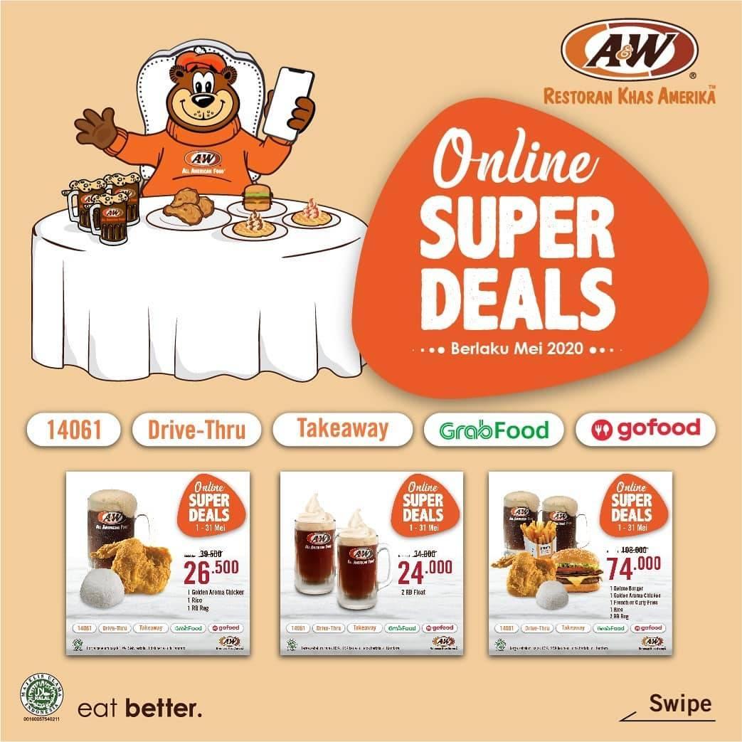 Diskon A&W Promo Online Supers Deals Bulan Mei 2020