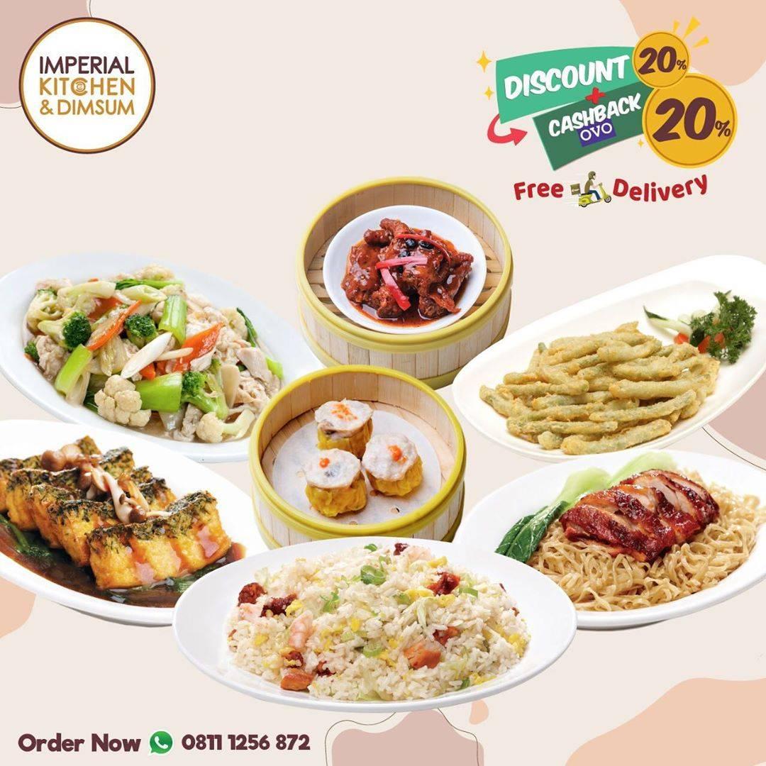 Diskon Imperial Kitchen & Dimsum Promo Diskon 20% + Cashback 20% + Free Delivery