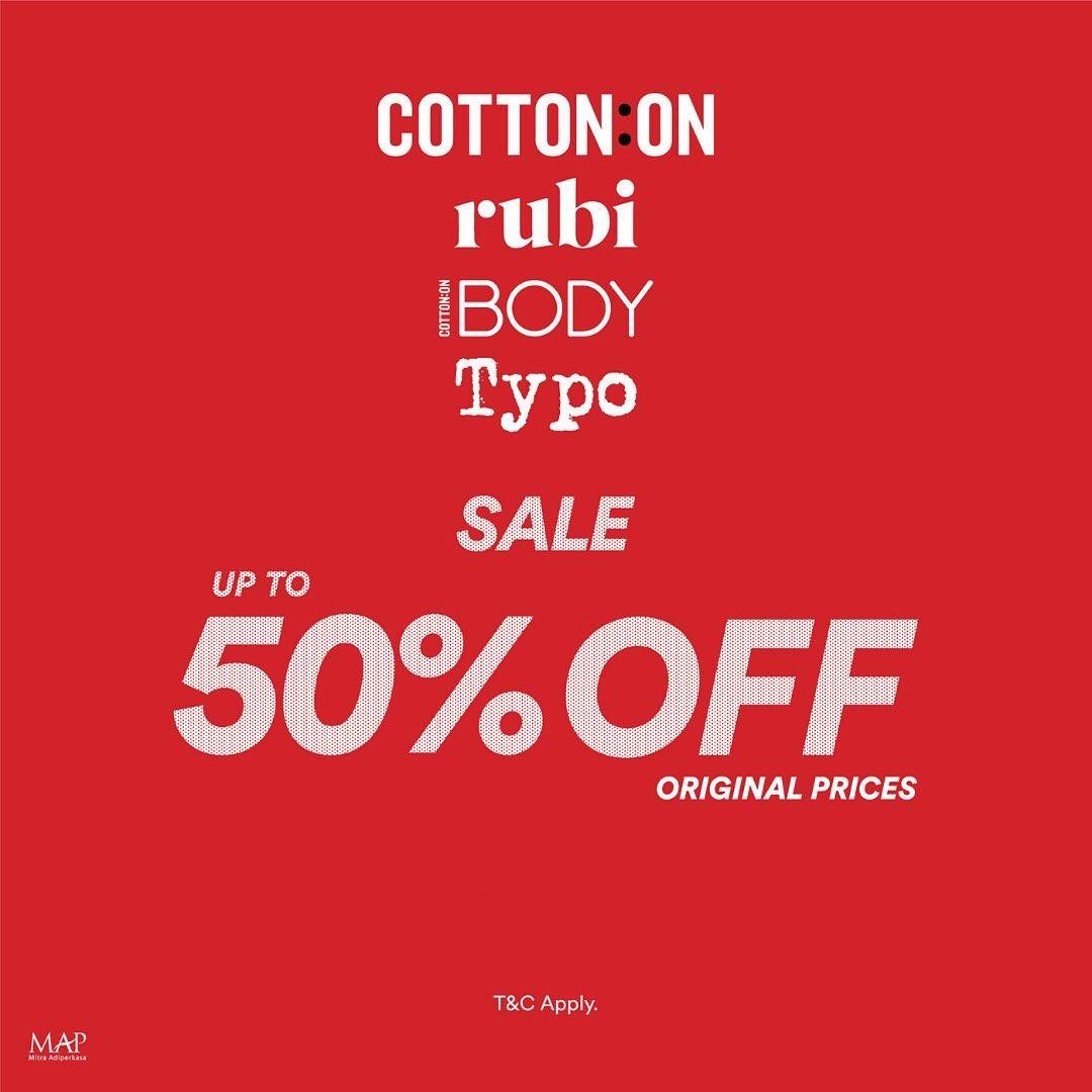 Diskon Cotton On Promo Discount Up To 50% Off