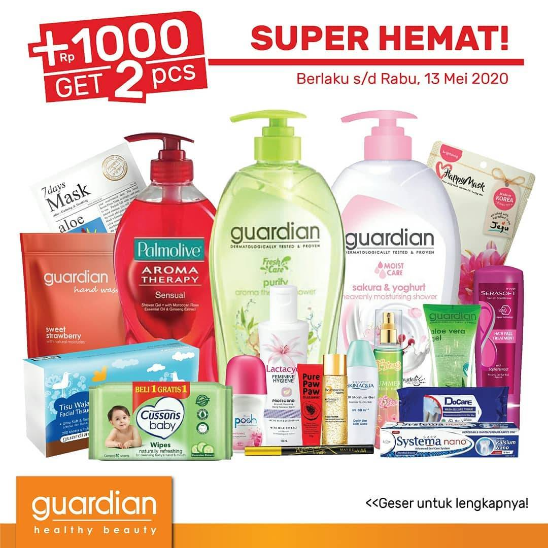 Diskon Guardian Promo Katalog Super Hemat Periode 30 April - 13 Mei 2020