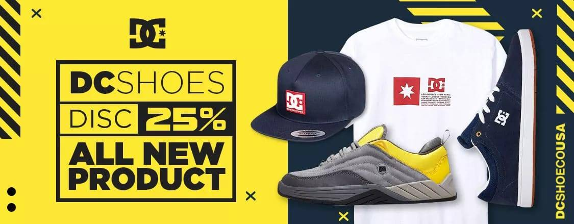 Diskon JD.ID Promo Discount 25% Off All New Product DC Shoes