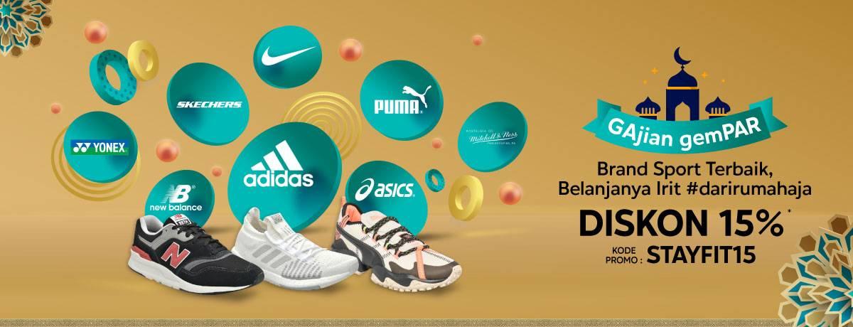 Diskon Blibli.com Promo Gajian Gempar, Diskon 15% Untuk Produk Brand Sport Terbaik