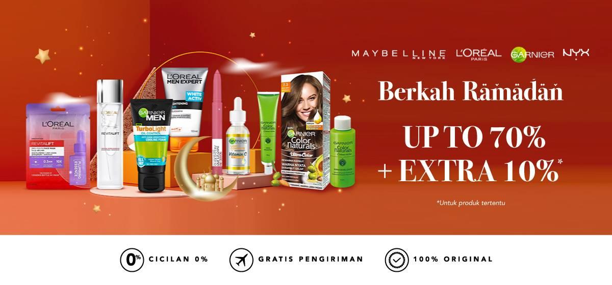 Diskon Blibli.com Promo Berkah Ramadhan, Diskon Hingga 70% + 10% Untuk Produk Kecantikan Favorit