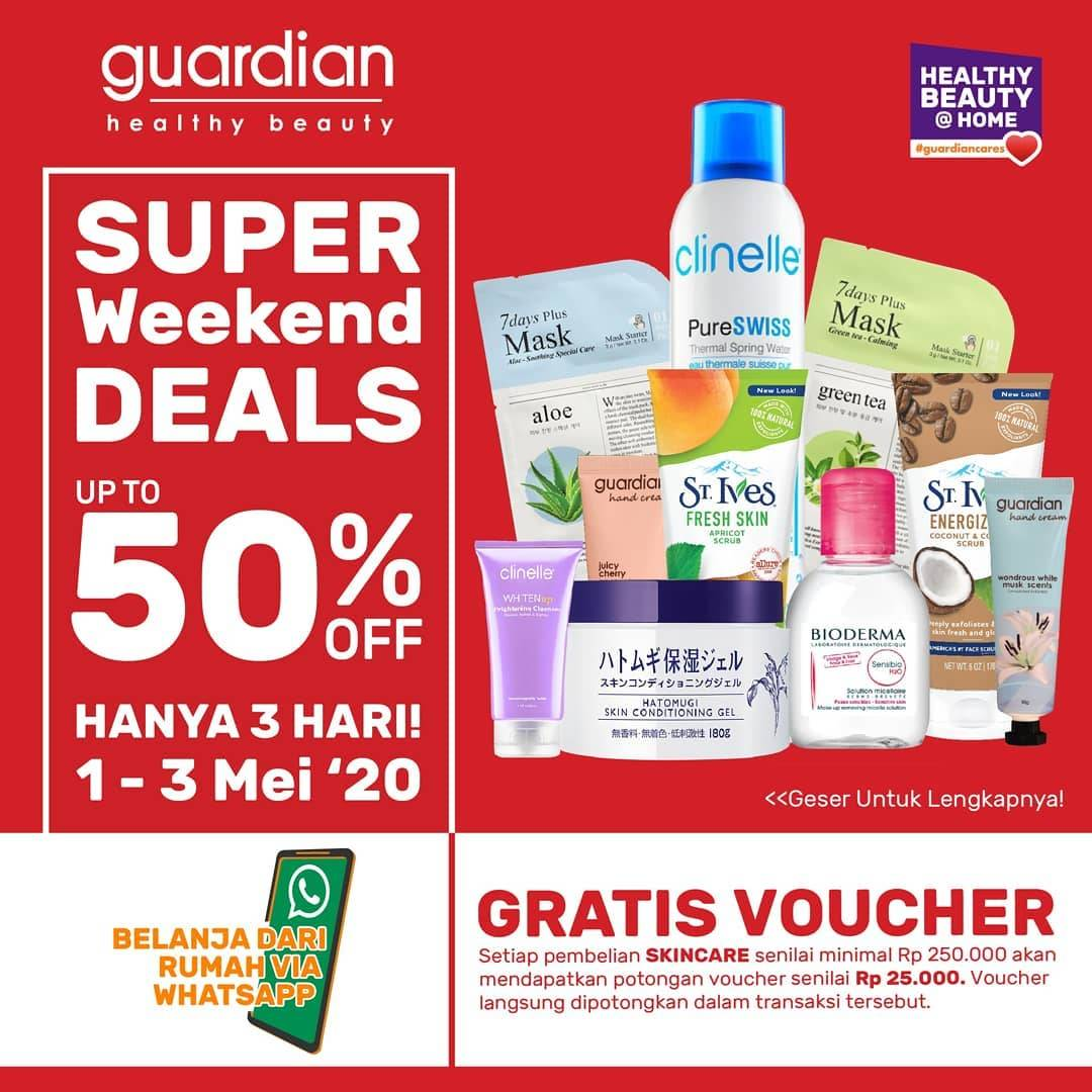 Diskon Guardian Promo Super Weekend Deals, Discount Up To 50% Off For Skincare Products