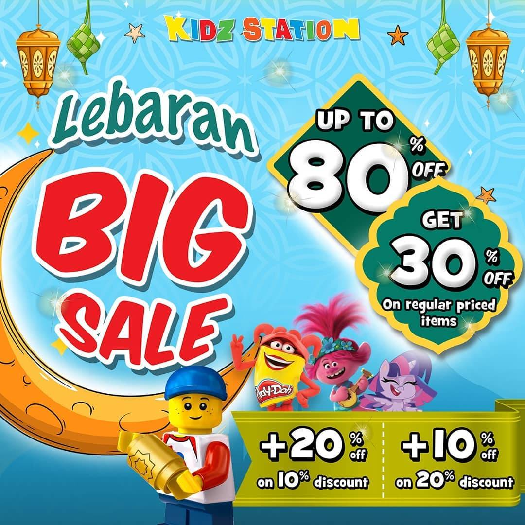 Diskon Kidz Station Promo Lebaran Big Sale Get Discount Up To 80% Off + 30% Off