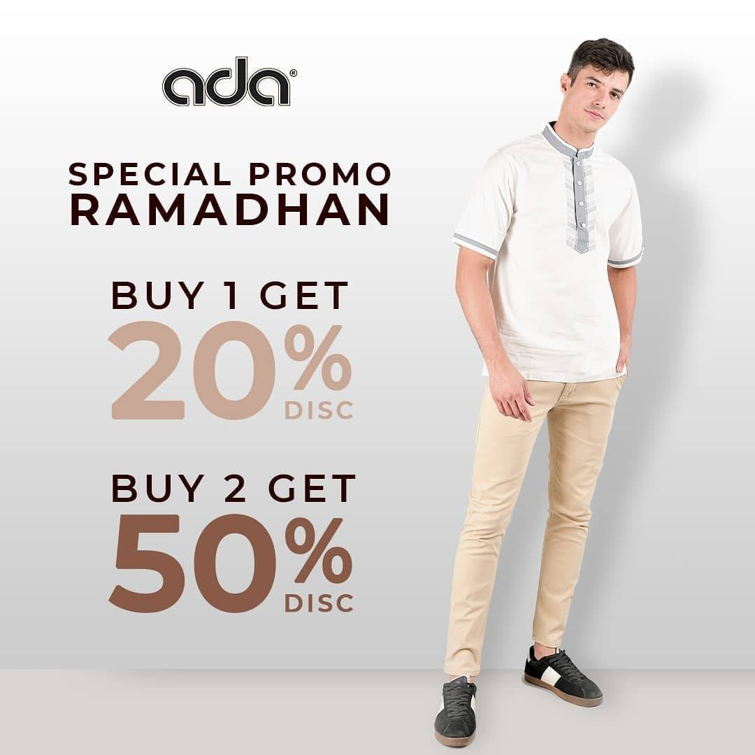 Diskon Ada Fashion Store Promo Special Ramadan, Buy 1 Get Discount 20% Off & Buy 2 Get Discount 50% Off