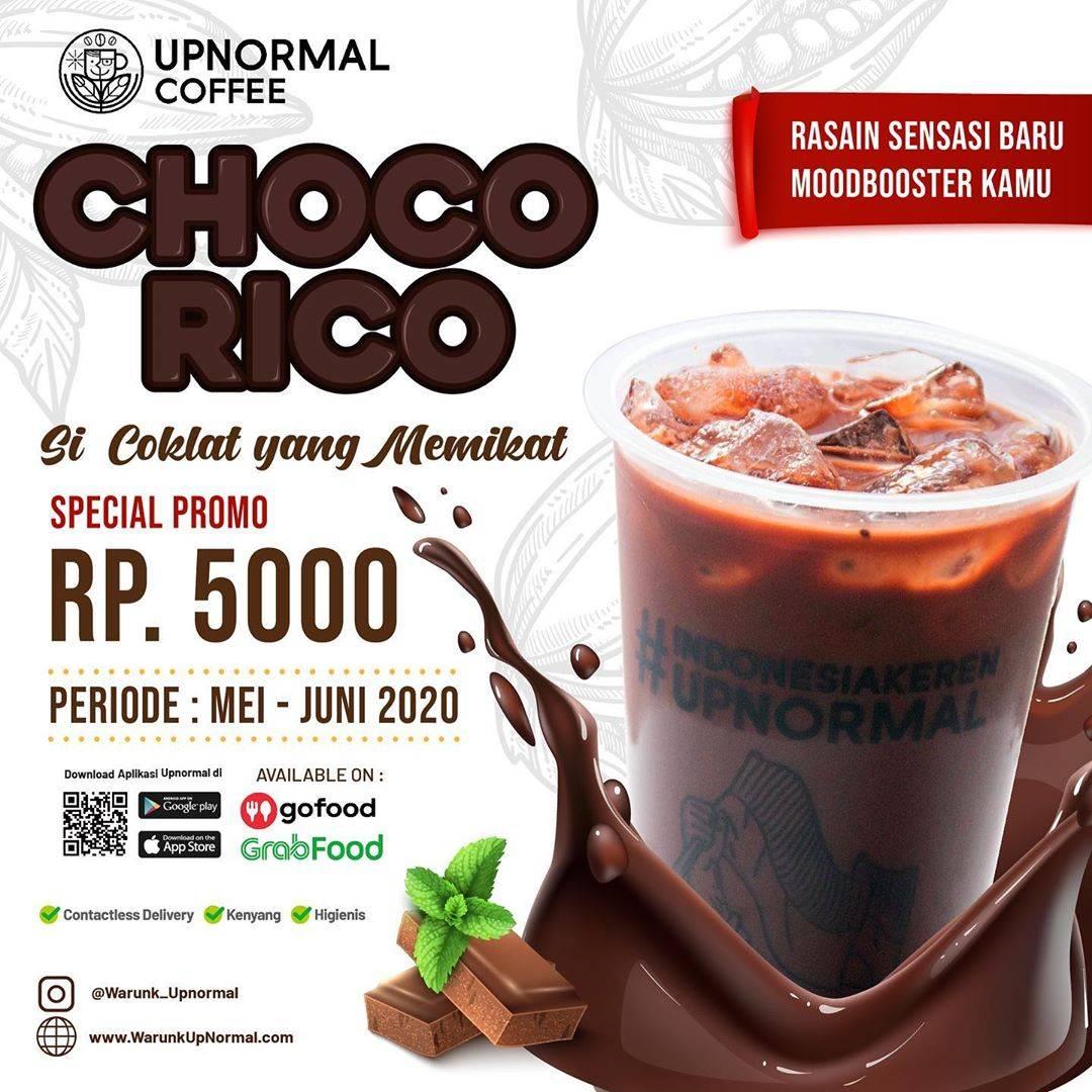 Diskon Warunk Upnormal Promo Harga Spesial Choco Rico Hanya Rp. 5.000