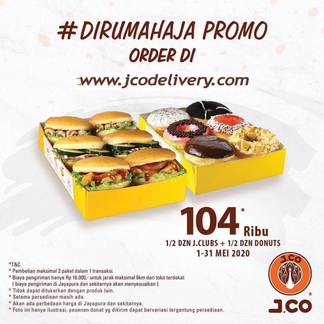 Diskon J.CO Promo Harga Spesial 1/2 Lusin J.Clubs + 1/2 Lusin Donat Cuma Rp. 104.000