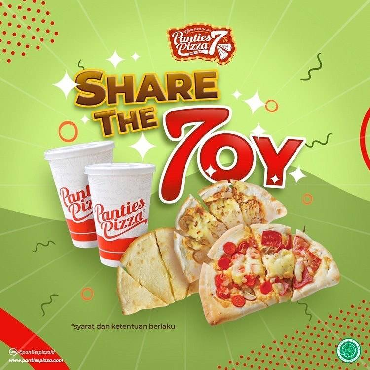 Diskon Panties Pizza Promo Share The Joy Periode 3 - 9 Mei 2020