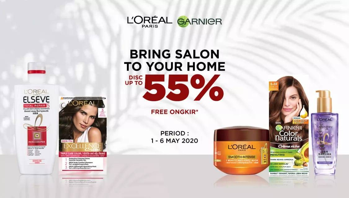 Diskon JD.ID Promo Bring Salon To Your Home, Get Discount Up To 55% Off For Selected Hair Treatment Product