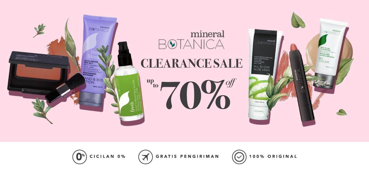 Diskon Blibli.com Promo Diskon Hingga 70% Untuk Produk Kecantikan Dari Mineral Botanica