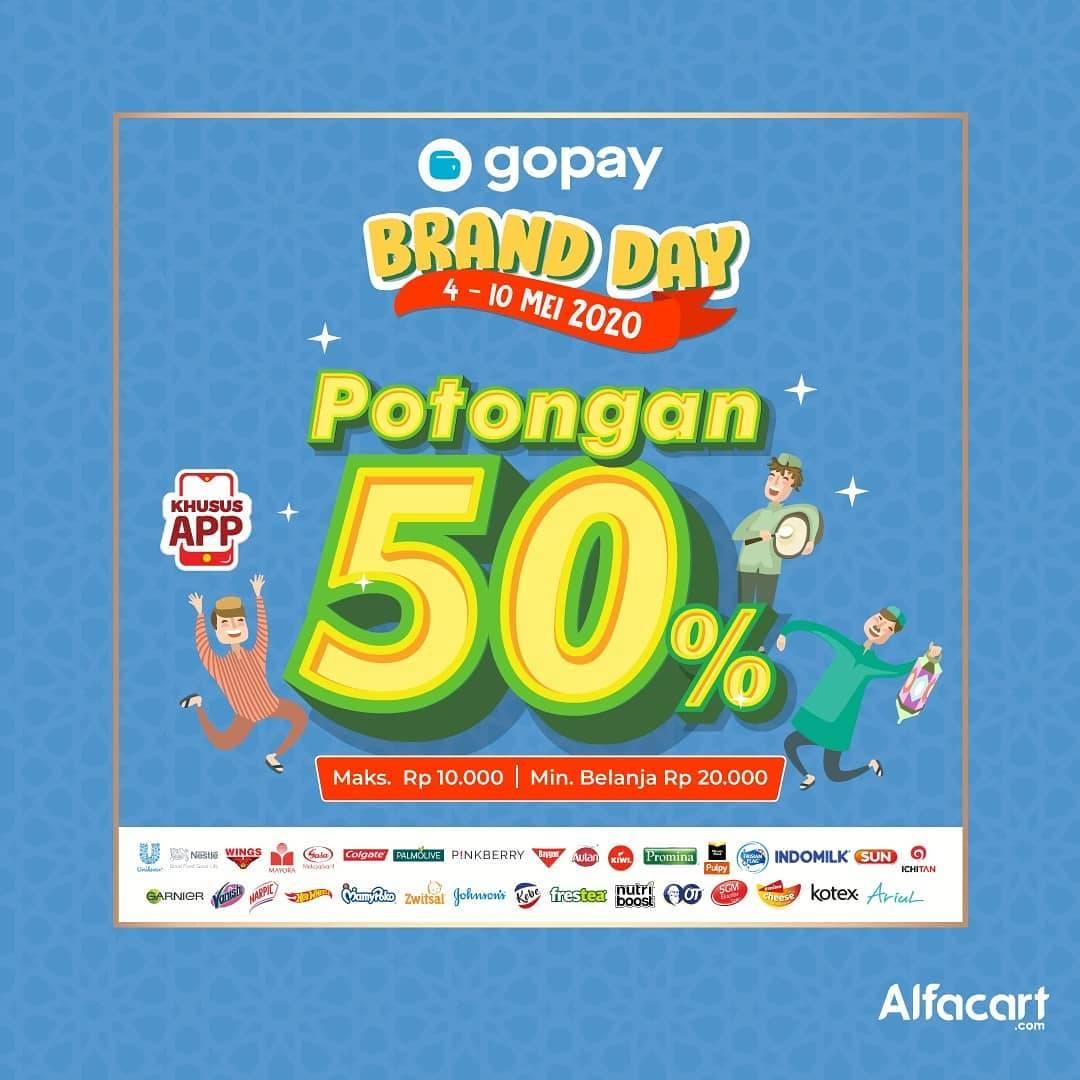 Diskon Alfacart Promo Brand Day Dapatkan Potongan 50% Untuk Transaksi Menggunakan Gopay
